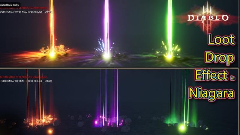 Diablo 3 Loot Drop Effect in UE4 Niagara Tutorial Requested