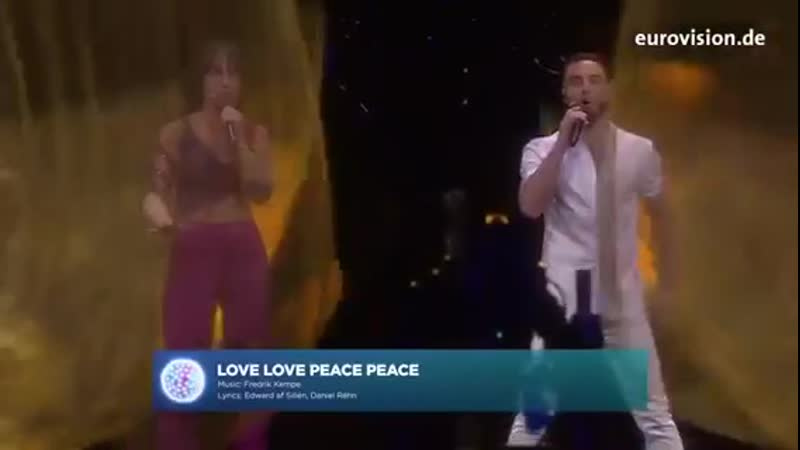 Love, Love, Peace, Peace - Måns Zelmerlöw and Petra Mede create the perfect Eurovision Performance