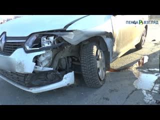 Появилось видео с последствиями жесткого ДТП на Бийской в Пензе
