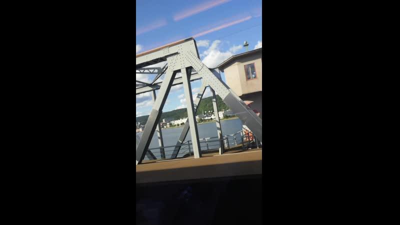 Виды из окна поезда Осло