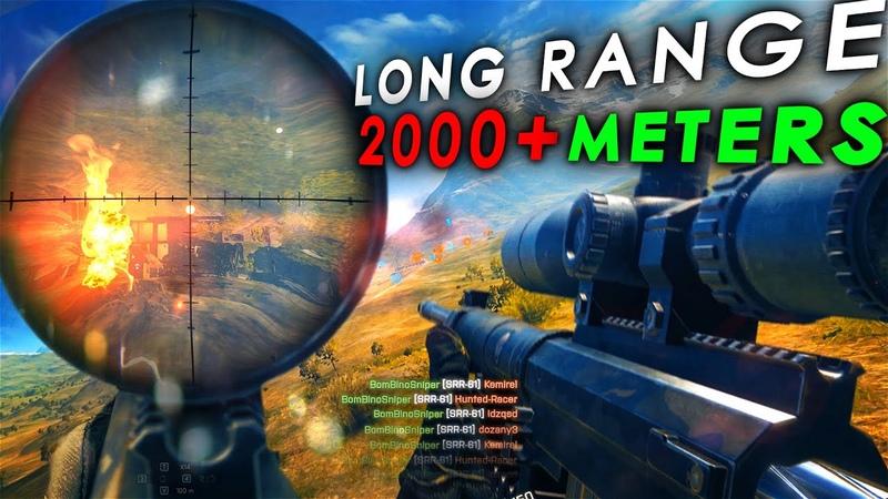 Battlefield 4 Long Range Sniping Kills - OVER 2000 meters Headshots by BOMBINO