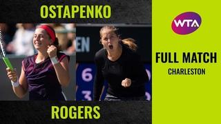 Jelena Ostapenko vs. Shelby Rogers | Full Match | 2019 Charleston Second Round