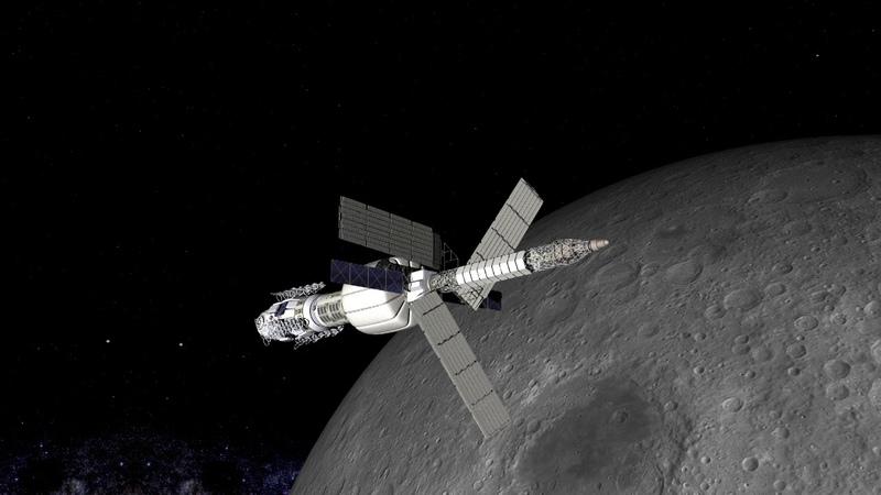 Марсианский корабль на основе ТЭМ Эскиз 1