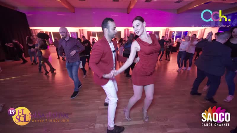 Fares Azar and Ksenia Kozlovskaya Salsa Dancing at El Sol Warsaw Salsa Festival 2019, Thursday 07.11.2019