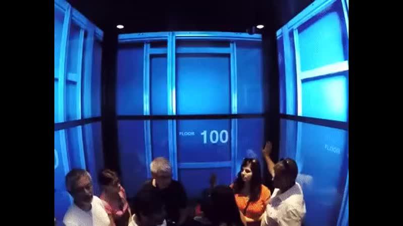 Фантастический лифт с ТВ панелями вместо стен doc 2019 04 24 01 19