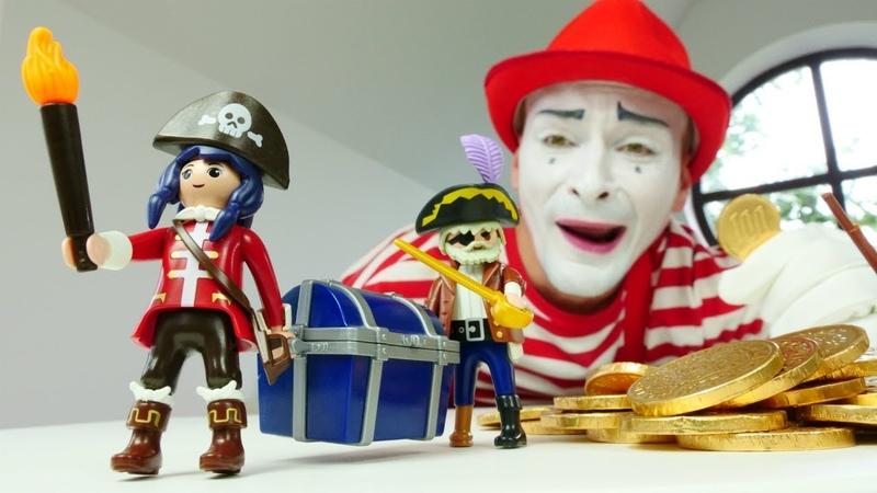 Игрушечные пираты и пиратский корабль Видео для детей