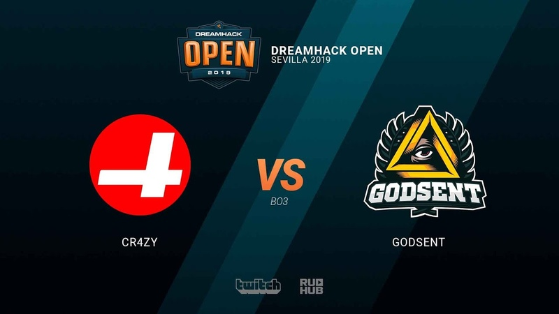 CR4ZY vs GODSENT - DH Open Sevilla 2019 - map3 - de_dust2 [SleepSomeWhile MintGod]