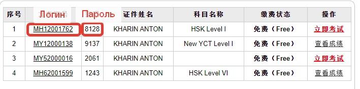 Бесплатный доступ к пробным экзаменам по HSK и YCT любого уровня, без смс, изображение №8