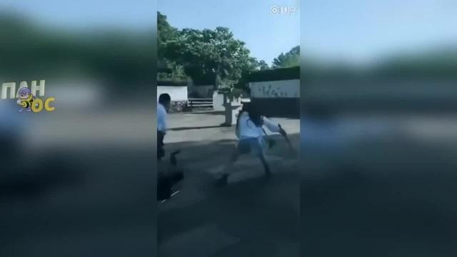 Девушка самурай против парня