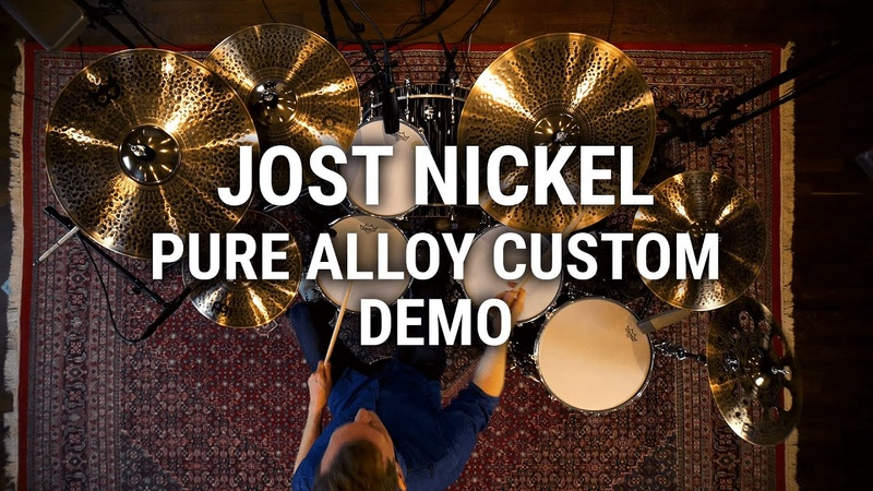 Meinl Cymbals Jost Nickel Pure Alloy Custom Demo
