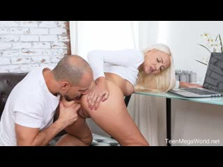 Helena Moeller - Forget laptop, give me sperm - Porno, Ass Licking Blonde Blowjob DoggyStyle Shaved Small Tits