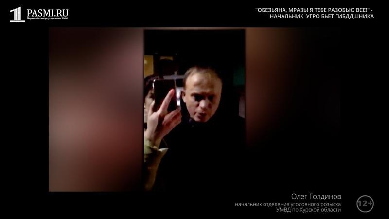 Обезьяна мразь Начальник угрозыска в Курске напал на инспекторов ГИБДД после пьяного ДТП
