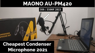 Cheapest Cheapest Condenser Microphone For 50$ / 3500₹ 2021 For Gaming, Streaming, YouTube.