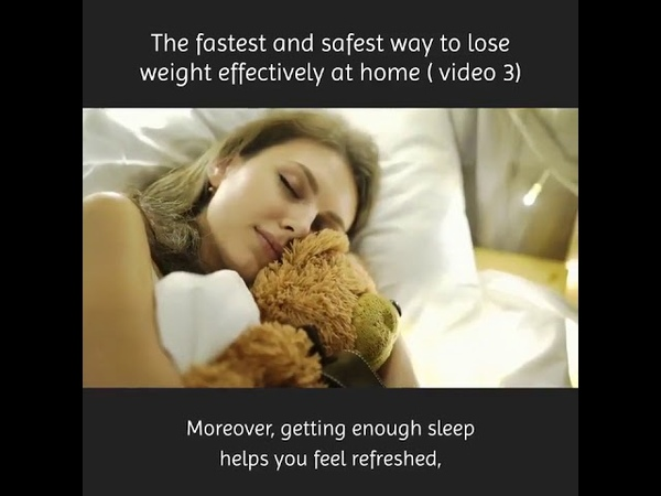 The fastest and safest way to lose weight effectively at home video 3