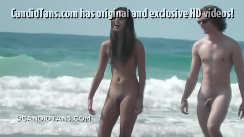 Sexy Asian Teen Walking Naked on the Beach in Public Porn