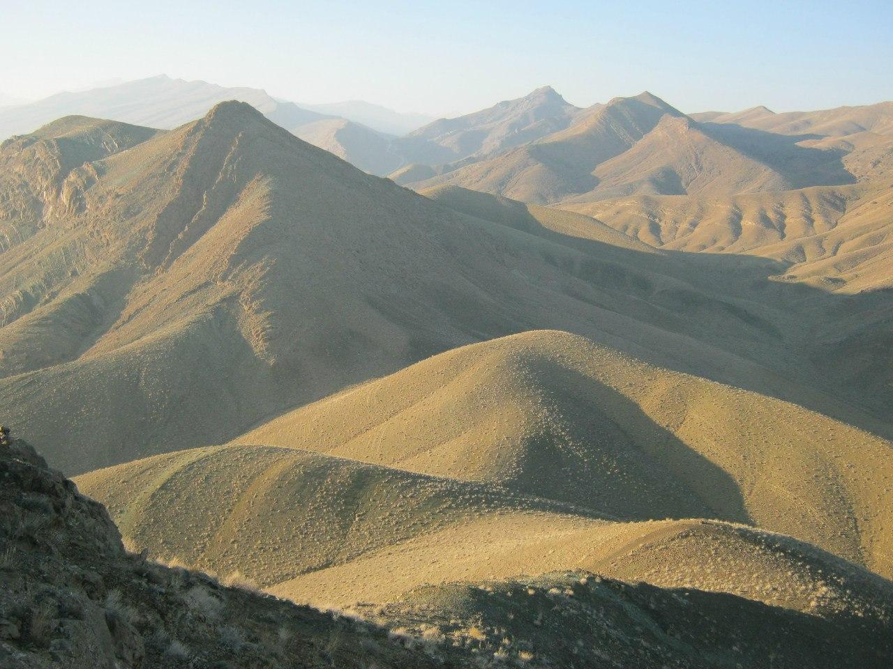 вид с гор в Иране