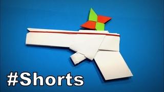 How to Make a Paper Gun that shoots Ninja Star DIY | Easy Origami ART #Shorts