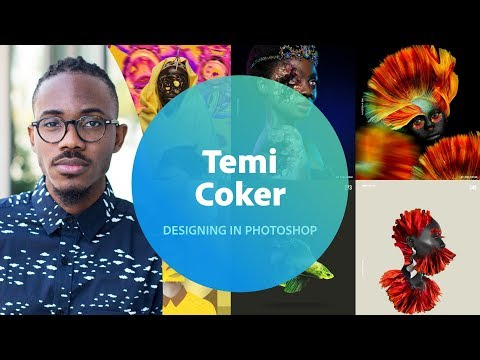Live Designing in Photoshop with Temi Coker 1 of 3