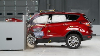 2017 Ford Escape driver-side small overlap IIHS crash test