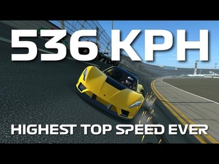 Highest Top Speed Ever - 536 kph - Hennessey Venom F5 - Top Speed Challenge