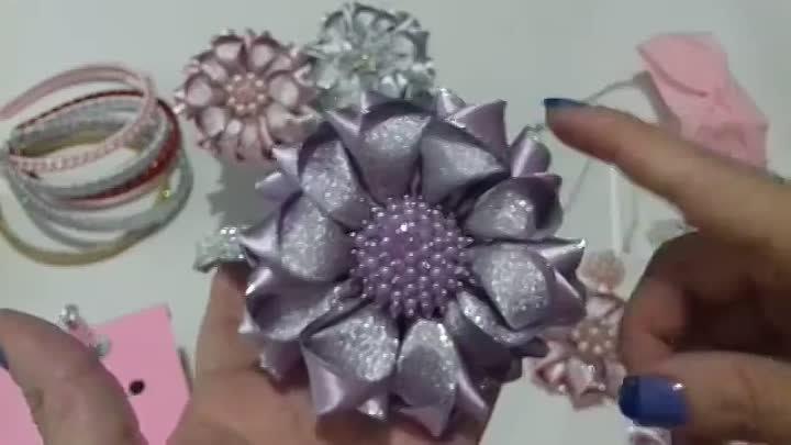 Como fazer flor mil faces _How to make flower Diy , tutorial , pap By Iris Lima(1)