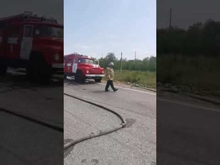 В Саратовской области столкнулись и сгорели 4 машины: один человек погиб, четверо в больнице