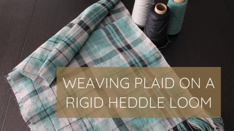 Weaving Plaid on a Rigid Heddle Loom and Balanced Weave Explained