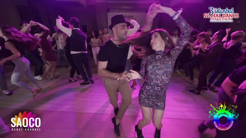 Fadi Fusion and Leymin Şaylan Salsa Dancing at Istanbul Social Dance Marathon 2020 Friday 31 01 2020