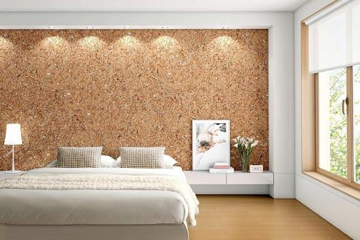Пробковое покрытие стен