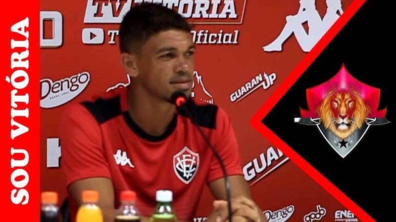 """Em coletiva Van se declara torcedor do Vitória e diz Enfim chegou o dia da estreia"""""""