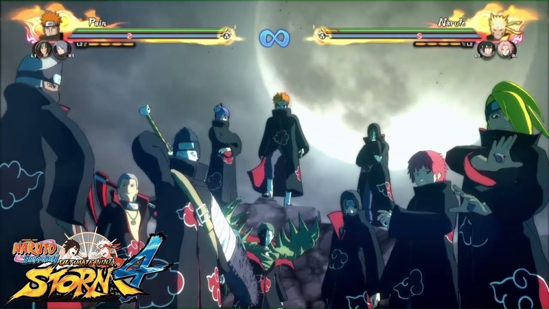 AKATSUKI TEAM ULTIMATE ATTACK | Blood Curdling | Naruto Storm 4 DLC 1 Gameplay
