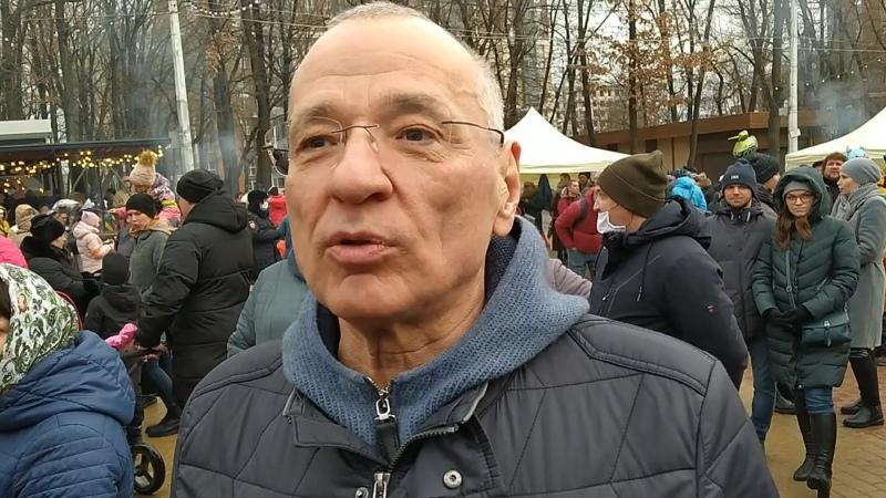 Городской праздник Масленицы посетил и мэр Юрий Галдун вместе с семьей