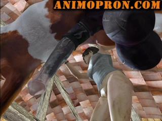 Lara with horse 2 ep 4 x ray (animopron) конь трахает бабу в анал ...