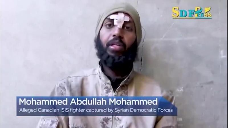 «Сирийские демократические силы» (СДС) захватили англоязычного пропагандиста Исламского государства35-летний канадский подда