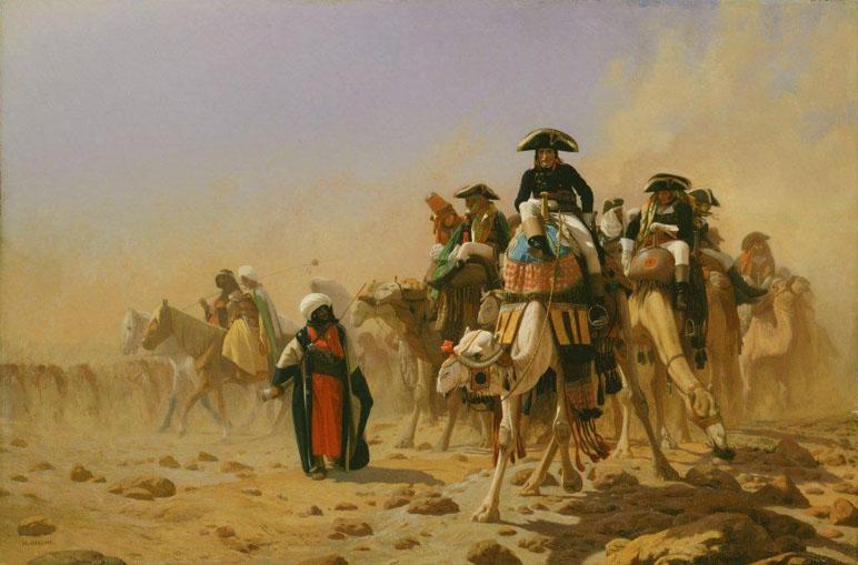 Жан-Леон Жером. Наполеон и его штаб в Египте