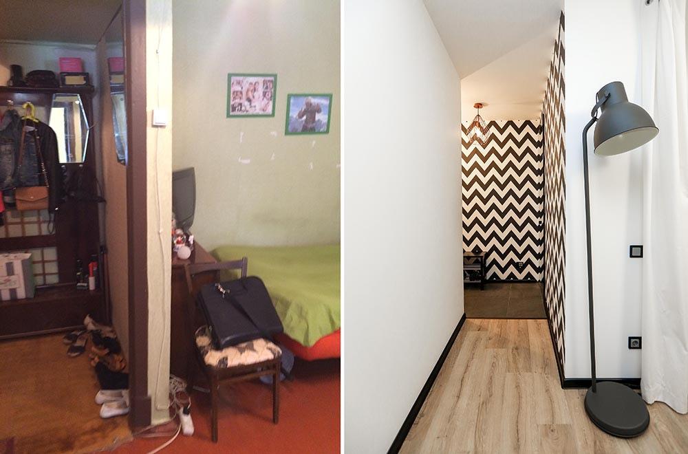 Интерьер квартиры-студии 30 м из старой хрущевки.