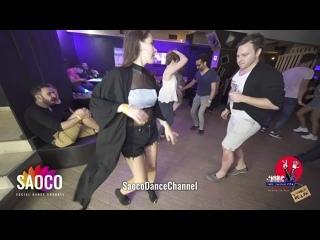 Patrick Steindl и Мария Богданова танцуют сальсу на пре-пати 3 Front Relax