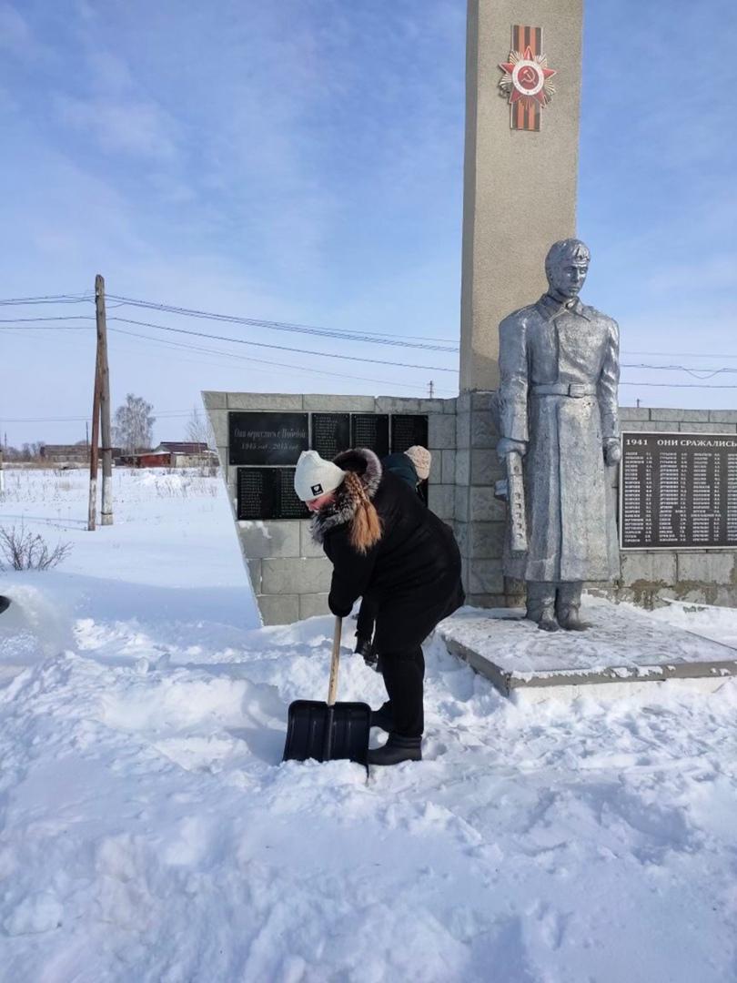 Жители села Новозахаркино готовятся к празднованию предстоящего Дня защитника Отечества
