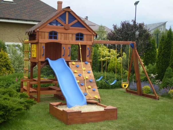 Детская площадка на даче. #детскийдомик@my.stroyka
