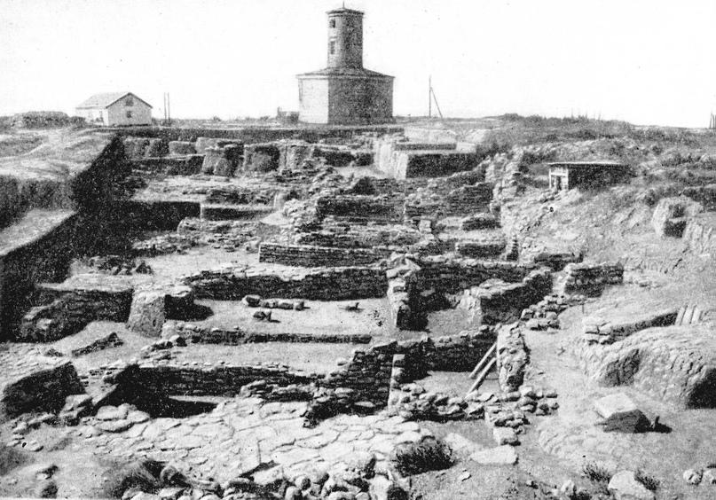 Раскопки квартала города Мохши, 1964 г.