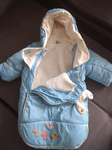 Продам тёплый зимний комбинезонПакет вещей на маль...