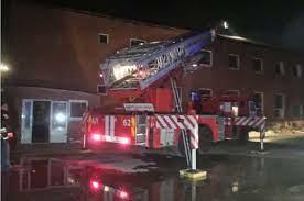 В ночь на 15 октября разыгрался серьезный пожар в ...