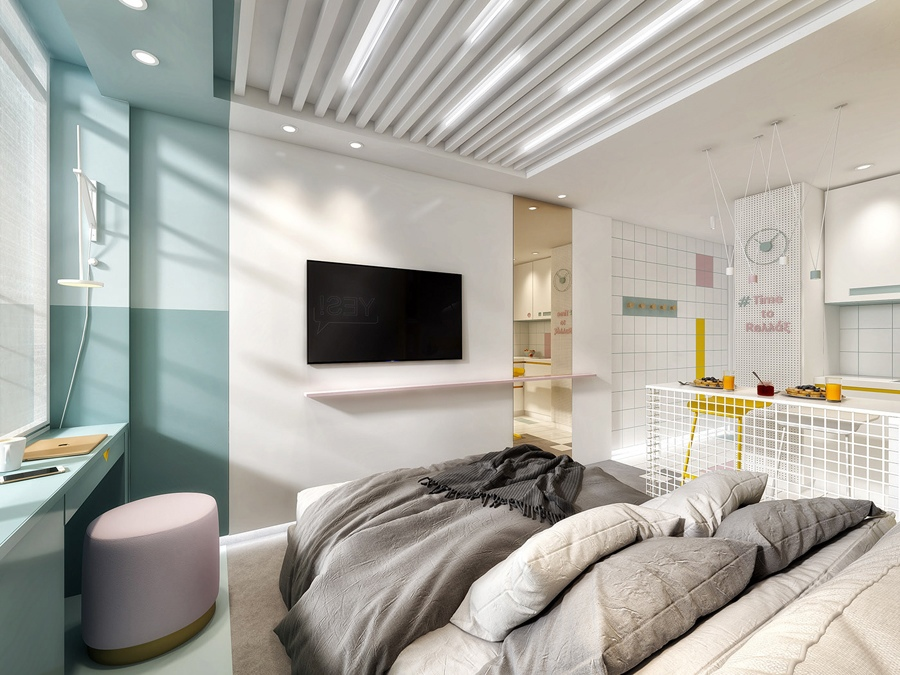 Проект маленькой квартиры-студии 20 кв.
