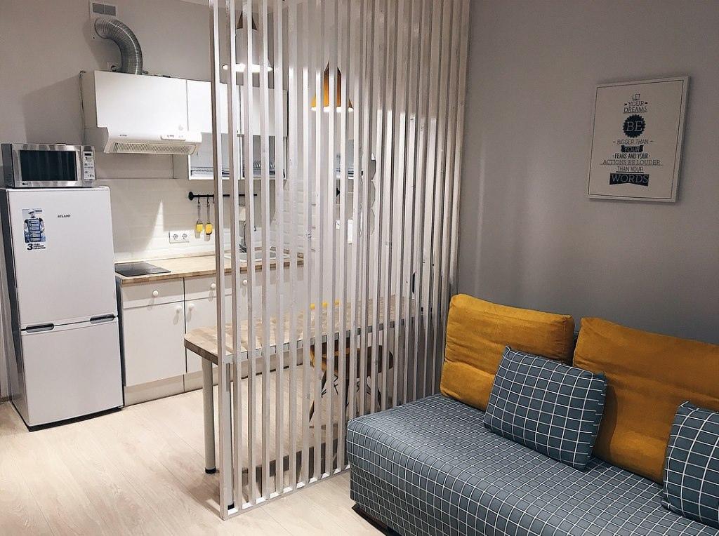 Интерьер квартиры-студии 25 кв.