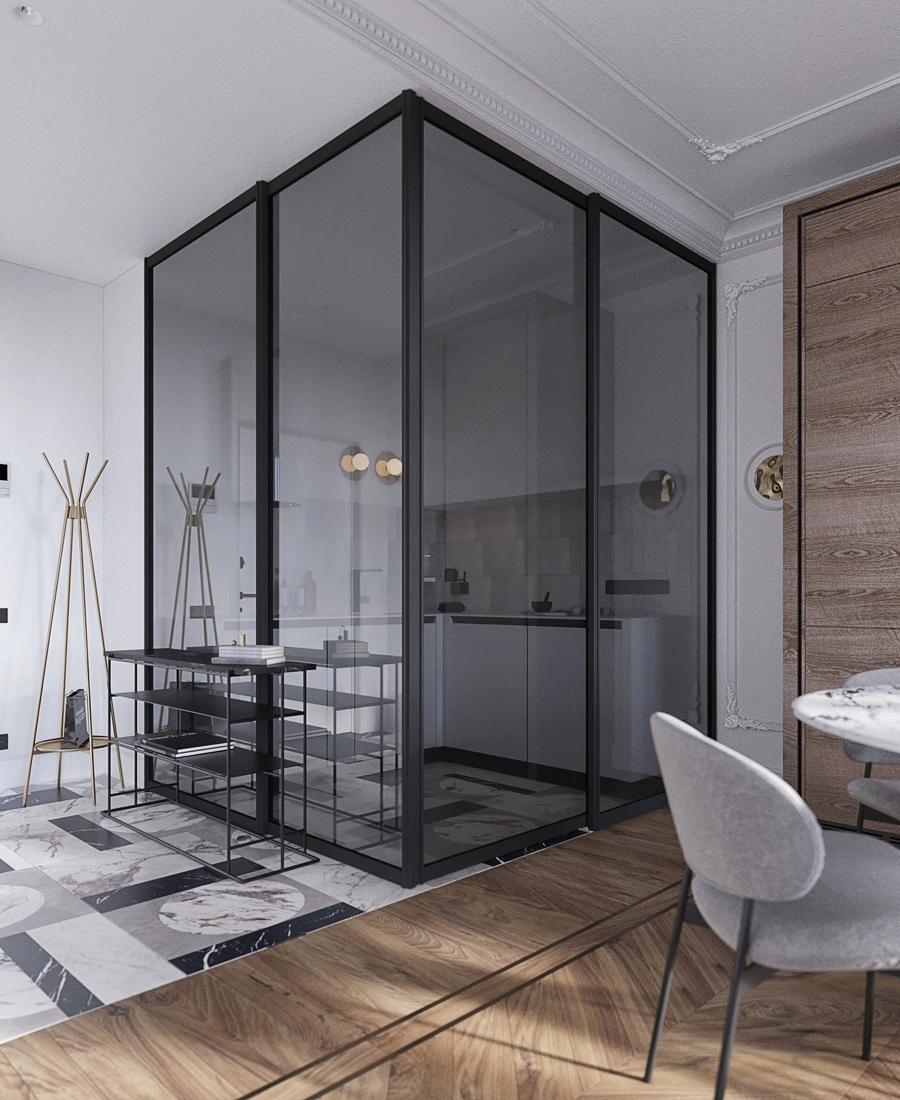 Как вам идея кухни в стеклянном кубе?