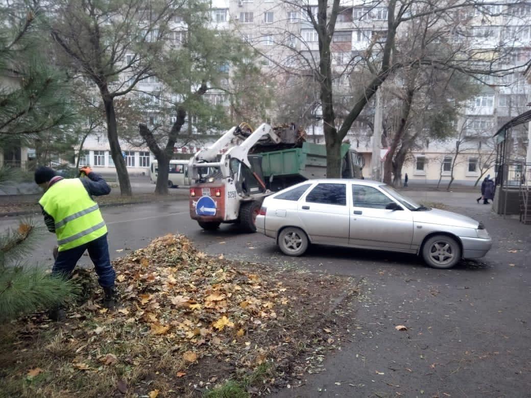 МКУ «Благоустройство»: В Таганроге проводятся осенне-зимние мероприятия по уборке опавшей листвы и веток