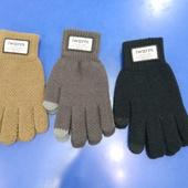 Мужские утепленные перчатки сенсорные