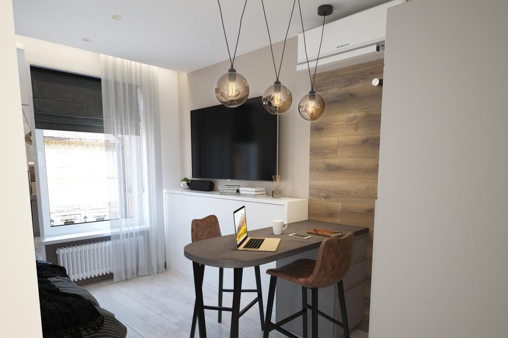 Проект маленькой квартиры-студии 22 м.