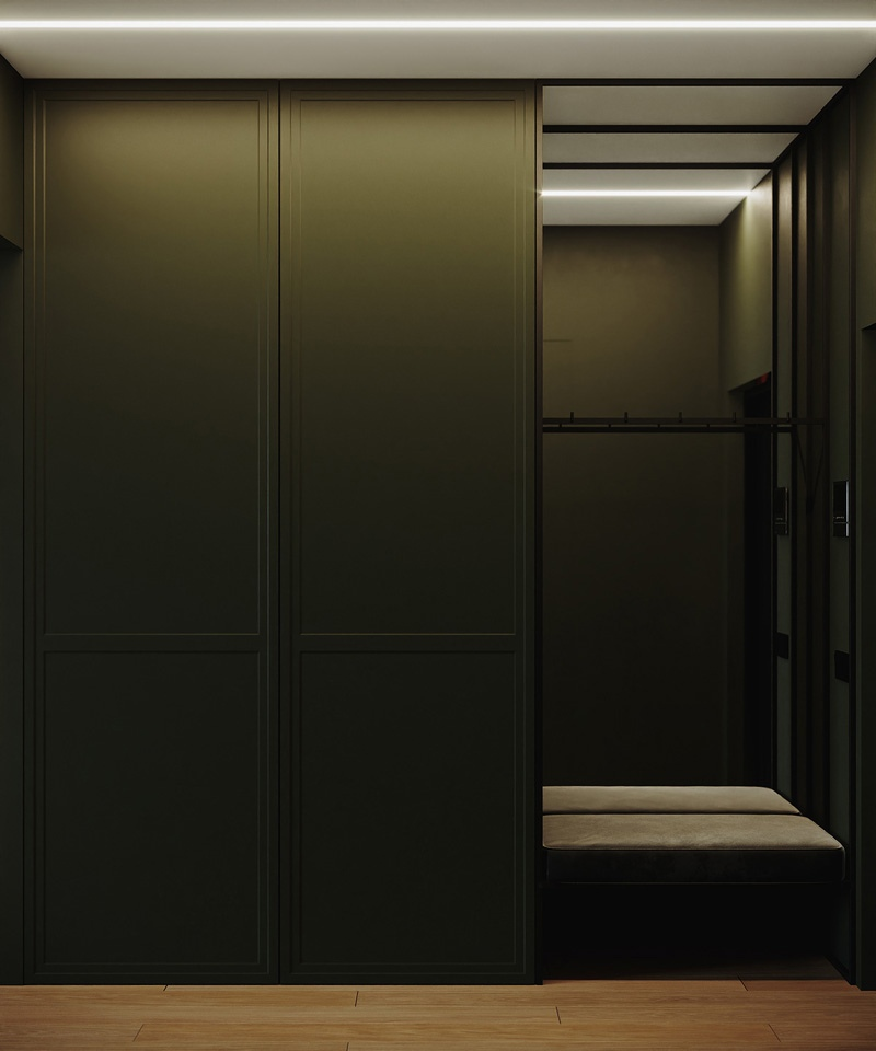 Яркий проект квартиры 28 кв.