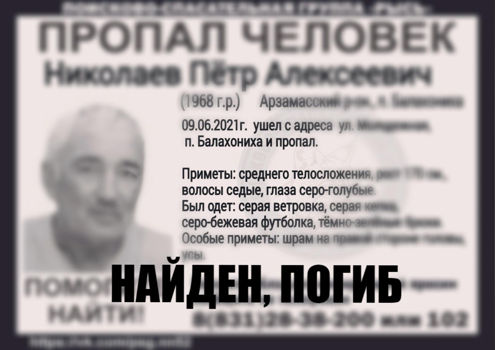 Николаев Пётр Алексеевич